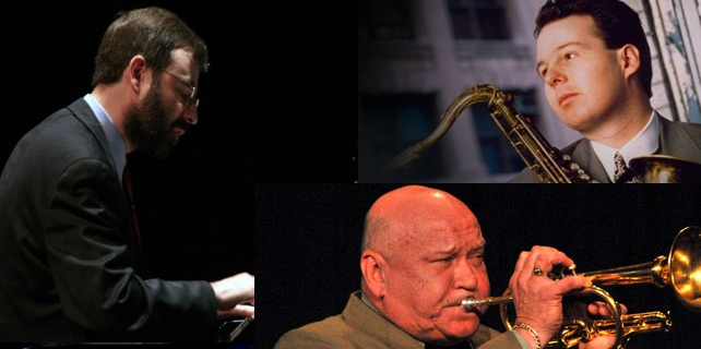 April 12, 2015 - HARRY ALLEN, tenor sax, WARREN VACHÉ, trumpet, and ROSSANO SPORTIELLO,piano, with Gerald Spaits, bass and John Kizilarmut, drums  We like to end our seasons on a high note and they don't get much higher than this threesome. Harry's smooth, swinging style pairs nicely with Warren's trumpet and Rossano ivories. We look forward to seeing you there!